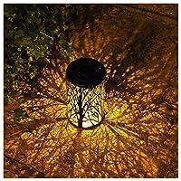 LEDソーラーランタンツリーランプ屋外ガーデン装飾投影ランプ中空鉄光と影ランプ