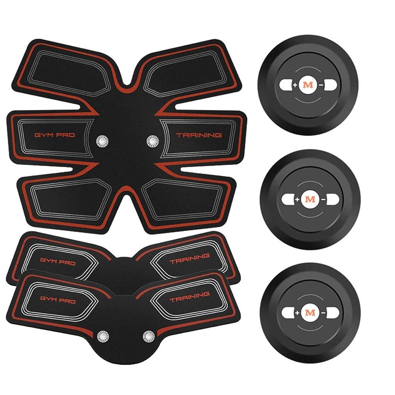 行進重なるうれしいEMS ABSトレーナー、腹部調色ベルト、EMSマッスルスティミュレーター、マッスルトナーフィットネストレーニングギア(男性用)女性腹部アームレッグトレーナー(オフィス用) (Color : Red, Size : 2B+A)