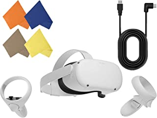 Oculus Quest 2 — Advanced All-in-One Virtual Reality Gaming Headset — Family Christmas Holiday Bundle — White — 64GB Video...