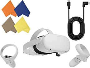 Oculus Quest 2 — Advanced All-in-One Virtual Reality Gaming Headset — 256GB Video — Family Holiday Bundle — White — BROAGE...