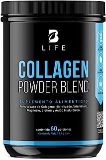 Colágeno Hidrolizado en polvo de 60 tomas Grass Feed con Biotina, Ácido Hialurónico, Magnesio y Vitamina C (60 tomas (612g))