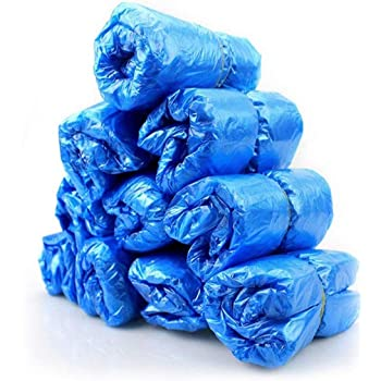 Express Panda, distributore automatico di copriscarpe e copriscarpe usa e getta blu Blue(Disposable Shoe Covers 200 Pack) Common