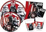 'Ciao y4491Kit Party Tabla Star Wars'Final Battle para 24Personas, Negro/Blanco