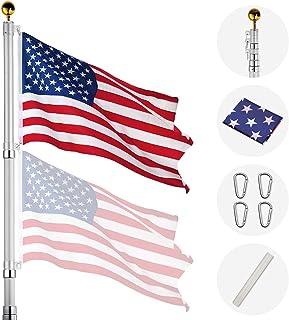 Best Yeshom 20ft Telescopic Aluminum Flag Pole Free 3