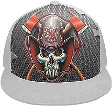 Unisex Hip Hop Hat Custom Fashion Skull Firefighter Emblem Campaign Adjustable Snapback Hat Trucker Hats