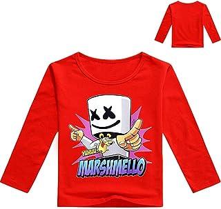 LATLONG ボーイズMarshmello Tシャツ DJ マシュメロ 長袖Tシャツ ヒップホップ 上着 快適 薄手トップス 欧米 Dotcom rap ファッション20