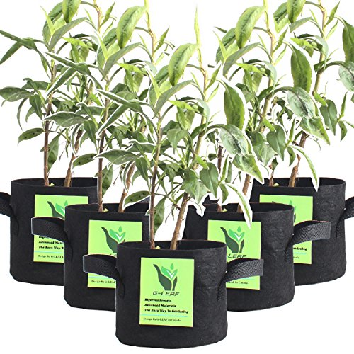 G-LEAF Grow Bag, 5-Gallon 5-Bag Grow Pot for Plant