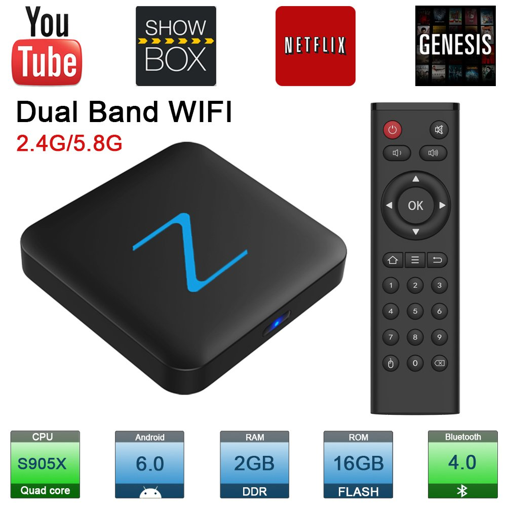 2.4G/5G WiFi Zenopllige Z11 Pro Android TV Box 2G/16G Bluetooth 4.0 4K HD Android 6.0 Amlogic905X Quad Core TV Box Smart TV Box: Amazon.es: Electrónica
