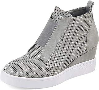 d828f9fa Botines Mujer Cuña Planos Invierno Planas Botas Tacon Casual Zapatos para Dama  Plataforma 5cm Elegante Zapatillas