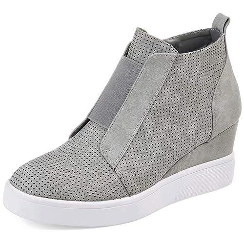 17455222d Botines Mujer Cuña Planos Invierno Planas Botas Tacon Casual Zapatos para  Dama Plataforma 5cm Elegante Zapatillas