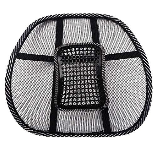 Alvivi Lordosenstütze Mesh Rückenstützen für Arbeit, Büro und Auto - Lendenkissen Rückenkissen zur Haltungskorrektur Schwarz C Einheitsgröße