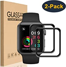 HEYUS [2 Pack] Screen Protector for Apple Watch Series 5 Screen Protector Premium Surface Hardness Full Coverage Tempered Glass for Apple Watch Series 5 44MM