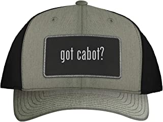 got Cabot? - Leather Black Metallic Patch Engraved Trucker Hat