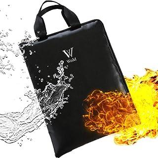 耐火バッグ WoM 優れた耐火性 耐火 袋 家庭用 金庫 耐火金庫 現金収納ケース 書類保管ケース 手提げ 小型