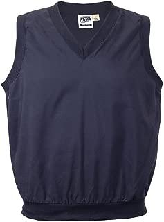 Akwa Made in USA Men's Microfiber Water Repellent V-Neck Pullover Vest