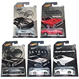 Hot Wheels, 2015 Exclusive James Bond 007 Collection, Bundle Set of 5 Die-Cast Cars, 1:64 Scale by Hot Wheels