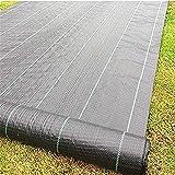 XD7 Tela de barrera de malezas para jardín, para paisajismo, camino, grava y césped artificial, cubierta de suelo de 1 m x 2 m