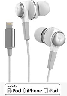 Thore iPhone Headphones for iPhone 11/Pro Max Earphones (Apple MFi Certified) Wired in-Ear Lightning Earbuds with Mic (for...