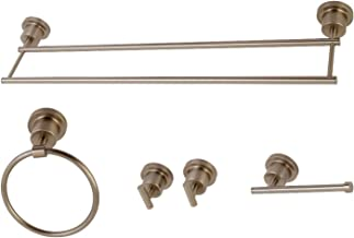 Kingston Brass BAH8213478SN Concord 5-Piece Bathroom Accessory Set, Brushed Nickel