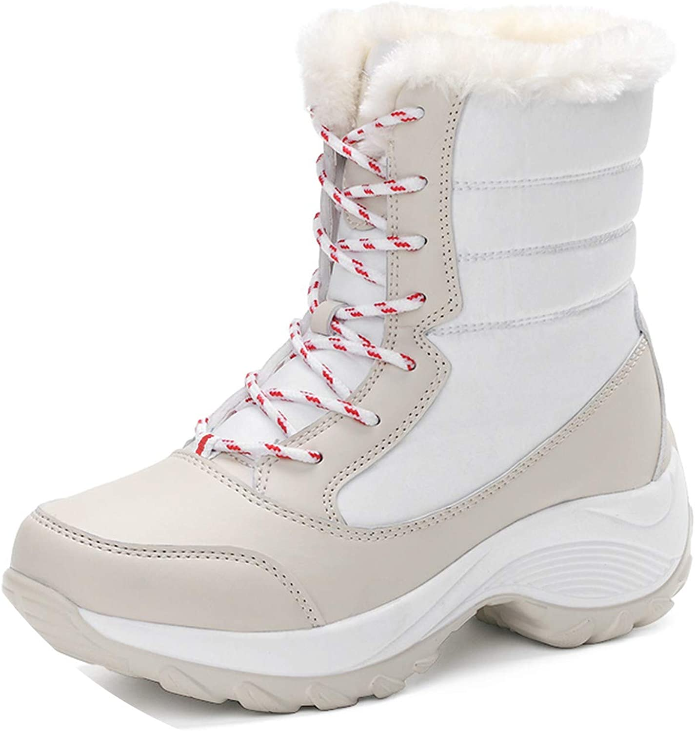 The memory is really bad Women Boots Mid-Calf Platform Ankle Boots Women high Warm Fur Plush rain Boots Hiking Boots