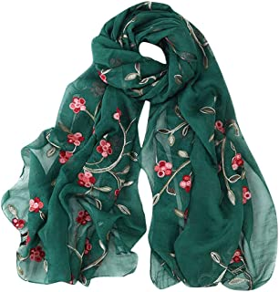 Hijab Scarfs for Women Hot Sale,deatu Clearance Ladies Embroidery Chiffon Wrap Shawls Headband Muslim Scarf