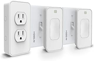 Switchmate Smart Power and Toggle Switch Kit, Dual Outlet/Light Switch/Timer/Automation, DIY, USB Charger, Nightlight, No Tools, No Wiring, Snap on/Plug In, Motion Detector, Smart Home, App Control