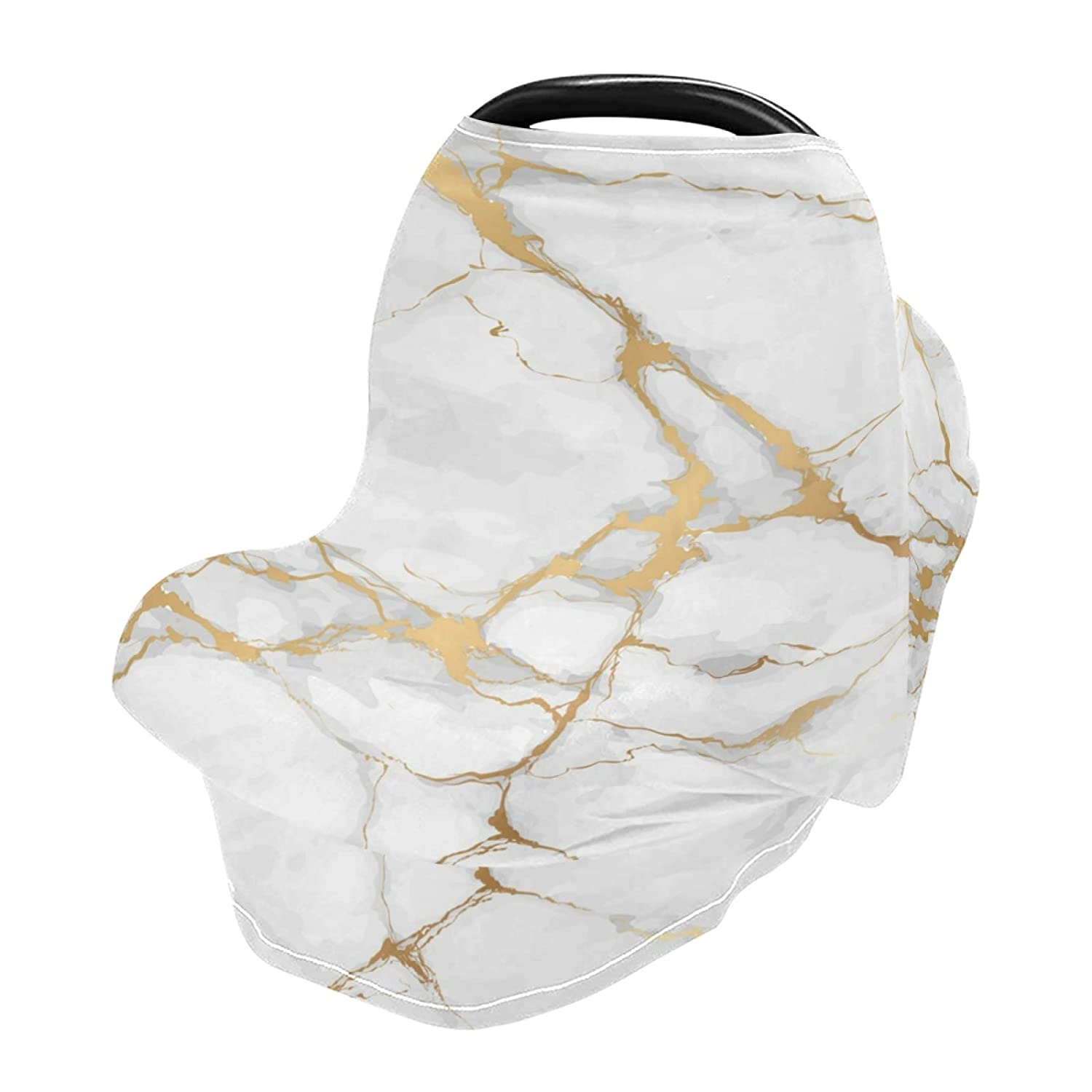 New color WELLDAY Baby Car Seat Covers Golden Max 45% OFF Marble Texture Brea Stretchy