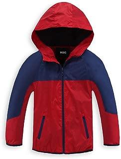 M2C Boys Quick Dry Full-Zip Hooded Light Windproof Windbreaker Jacket