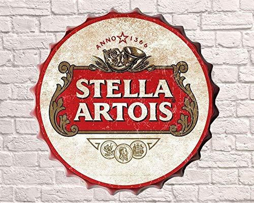 Bevanda o meravigliosa bottiglia Top Stella - Drink Happy Hour Birra più grande Vintage Retro Mancave Man Cave Shed Garage Officina Pub Bar Regalo