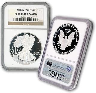 2008 W American Silver Eagle $1 PF70UCAM NGC