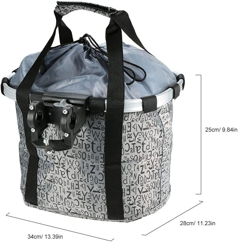 YIXING Bicycle Basket Aluminum Cheap mail order shopping Pouch B Alloy Japan's largest assortment Bike