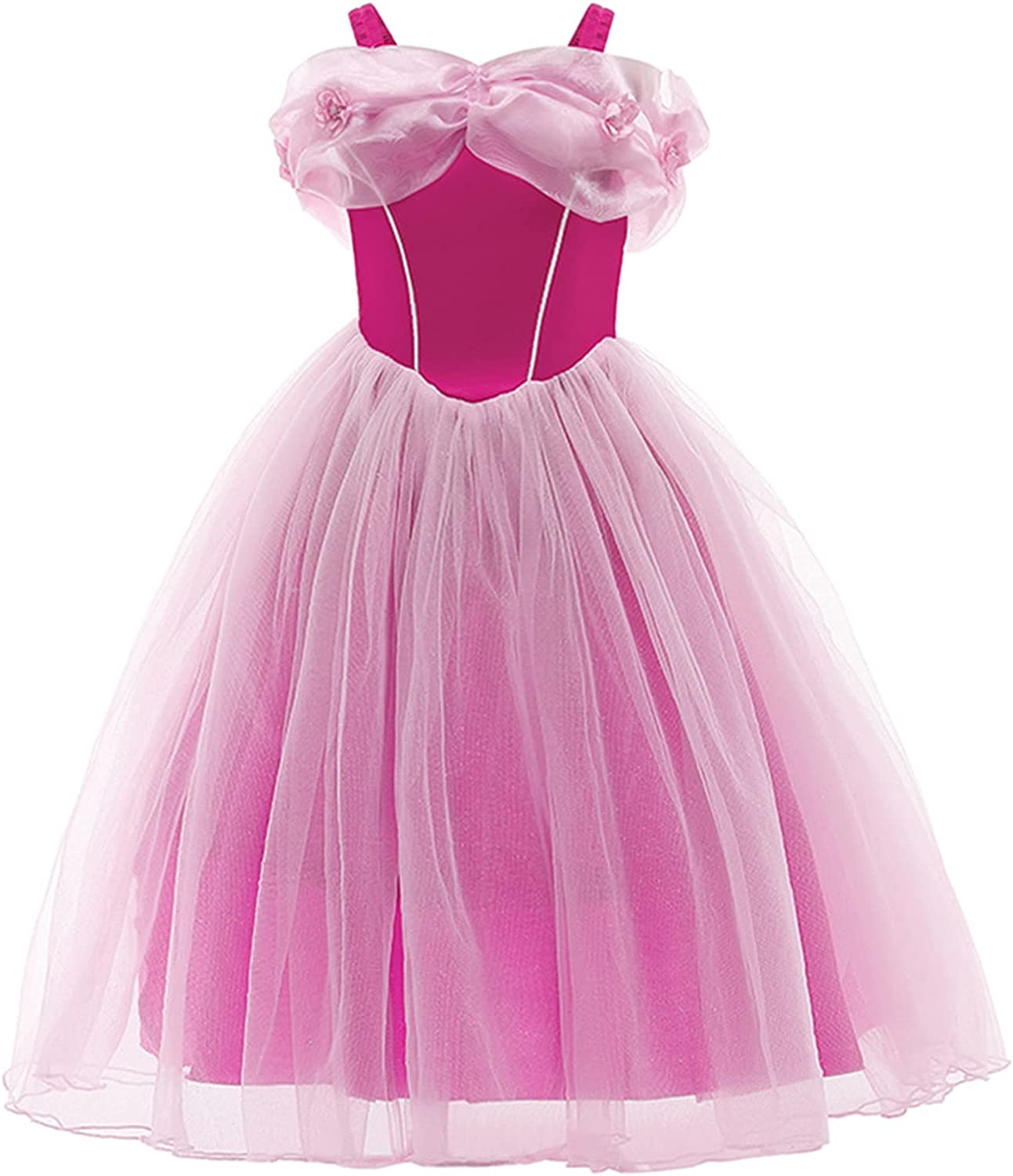 CHICTRY Kids Girls Off Shoulder Tulle Princess Dress Dance Birthday Party Dress Up Maxi Gowns