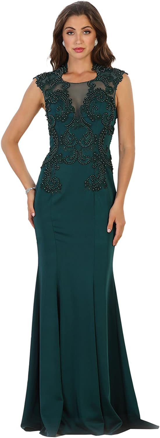 Royal Queen RQ7534 Special Occasion Fitted Evening Dress