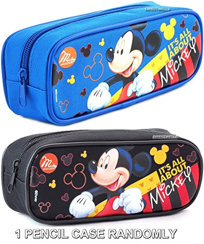 Disney Mickey Mouse ' It's All About Mickey ' Blue or Black Pencil Case (Randomly)