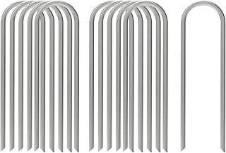 AAGUT 12 Inch Garden Stakes Heavy Duty 11 Gauge Landscape Staples Ground Tent Pegs/Spikes/Pins for Anchoring Dog Fence,Tub...