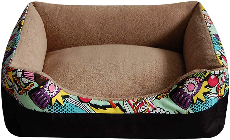 GONGYU Kennel cat litter dog bed dog mat resistant scratch bite pet supplies,Lightbrown,M