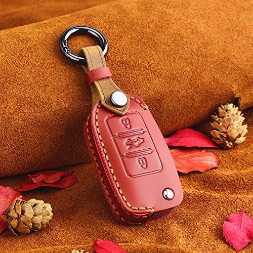 WZJFZPL LederAuto Schlüsseletui , für VW Volkswagen Polo Golf Passat Käfer Caddy T5 EOS TiguanSitzbezug | Schlüsseletui für Auto