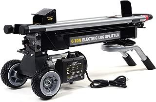 Goplus 6 Ton Hydraulic Electric Log Splitter Powerful Portable Wood Cutter with Mobile Wheels, 1500W 2HP