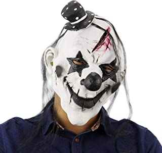 Lightahead Scary Clown Joker Overhead Mask Creepy Prop for Horror Halloween Costume Cosplay for Men or Women in Latex
