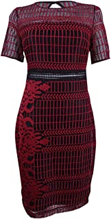 Guess Women's Embroidered Lace Sheath Dress