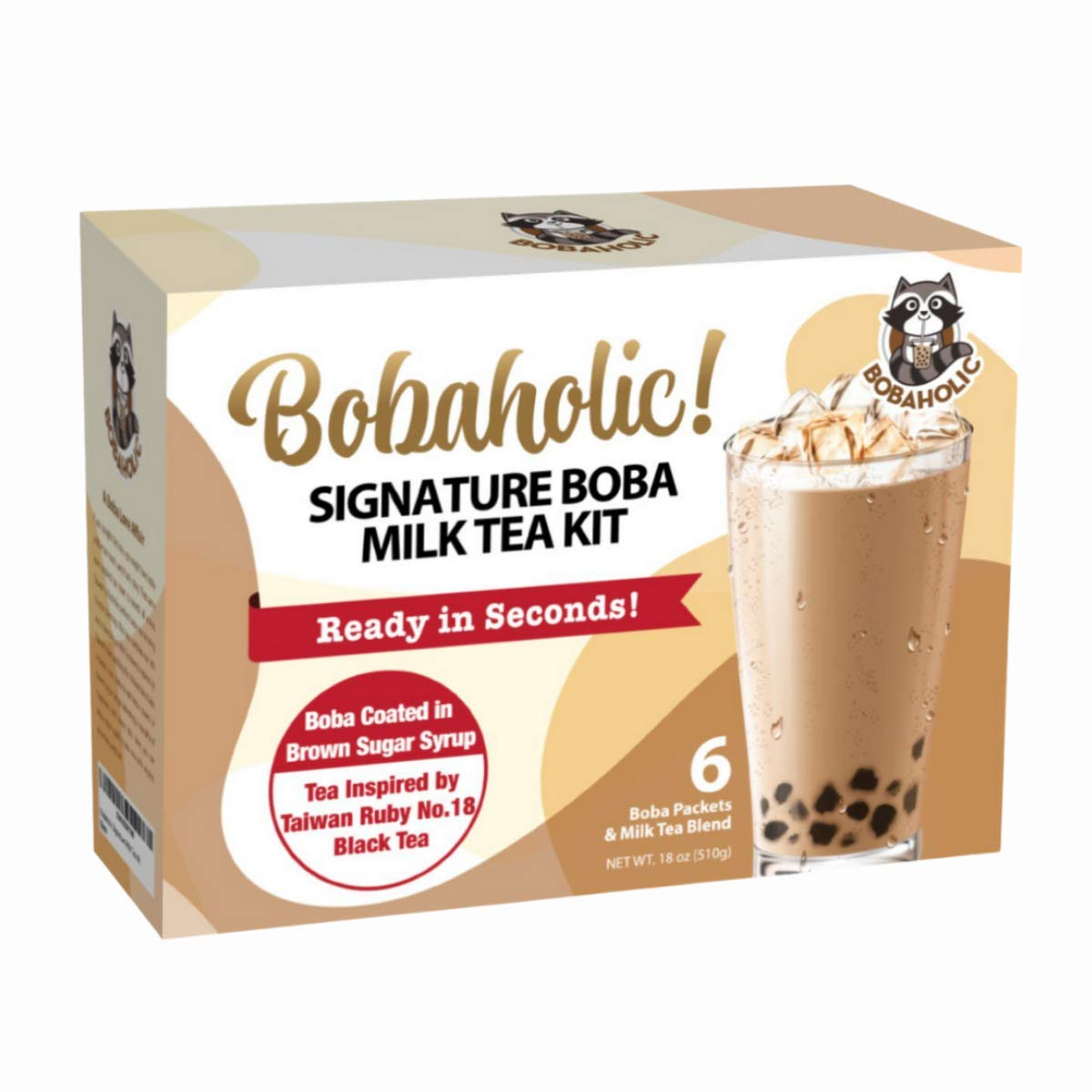 Bobaholic Instant Boba Tea Kit Regular Ranking TOP4 discount Ultra-Chewy Pearls with Tapioca