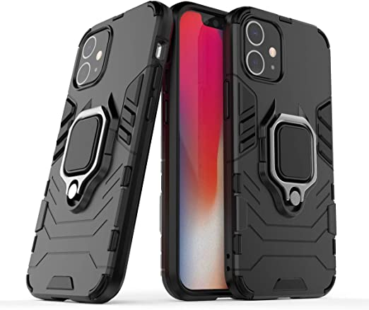 """Amazon.com: Cocomii Black Panther Ring iPhone 12 Mini Case, Slim Thin Matte  Vertical & Horizontal Kickstand Ring Grip Reinforced Drop Protection Bumper  Cover Compatible with Apple iPhone 12 Mini 5.4"""" (Jet Black) :"""