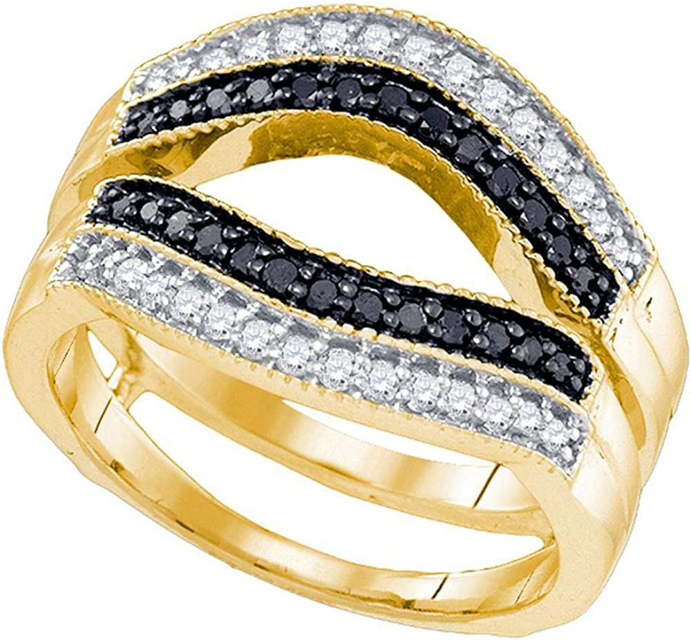 Solid 10k Yellow Gold Round Louisville-Jefferson County Mall Diamond Wedding Engagement Ann Black Max 68% OFF