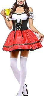Zonsaoja Disfraces para Mujer Vestido Dirndl Bávaro Oktoberfest Alemán