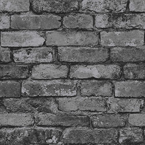 Brewster - Papel pintado para pared, diseño de pared de ladrillos