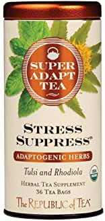 Title: The Republic of Tea SuperAdapt Stress Suppress Herbal Tea - 36 Tea Bag Tin
