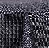 Maltex24 Textil Tischdecke - Leinen Optik - wasserabweisend Eckig 130x160 (Anthrazit, ca. 130 x 160 cm)