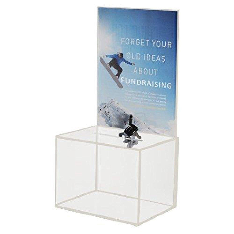 My Charity Boxes - Medium Acrylic Donation Box - Ballot Box - Ticket Box - Vote Box - Suggestion Box - Comments Box - Locking with 2 Keys - Large Display Area