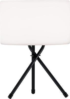 Paulmann 94173 Lampe de table mobile à LED IP44 Rechargeable avec USB 1 x 2 W Intensité variable Lumière de jardin Blanc Gris Métal Plastique Éclairage extérieur 3000 K