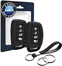 2pcs Compatible with Hyundai Smart 4 Buttons Silicone FOB Key Case Cover Protector Keyless Remote Holder for 2019 2018 2017 2016 2015 2014 2013 Hyundai Elantra Sonata Tucson, NOT FIT Flip/Pop Out Key